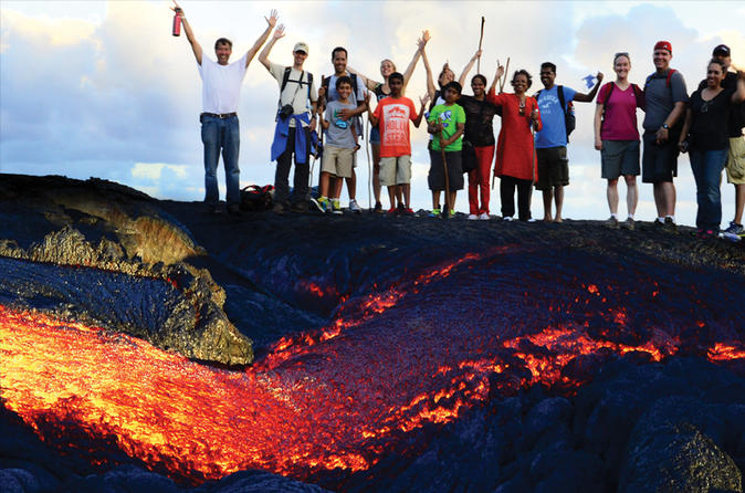 Hot Lava Hike to See Lava Volcano Tour on Hawaii